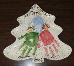 xmas tree ornament hand prints ccsa photo share