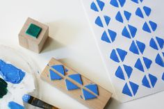 The Plumed Nest: Make: Geometric Foam Stamps