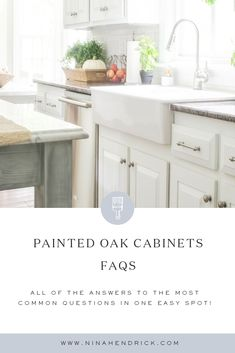 Rustic Glam Decor Are you considering painting your oak cabinets? I compiled all of the answers in one easy place to the most frequently asked questions about our painted oak cabinets! Diy Kitchen Remodel, Diy Kitchen Decor, Kitchen Design, Home Decor, Kitchen Ideas, Kitchen Inspiration, Painting Oak Cabinets, Farmhouse Style Kitchen, White Farmhouse