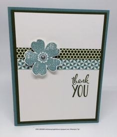 Quick & Easy card by adhering horizontal coordinating colors of Washi Tape. Made with Stampin' Up! supplies.