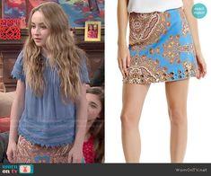 Maya's paisley print skirt on Girl Meets World. Outfit Details: http://wornontv.net/51640/ #GirlMeetsWorld