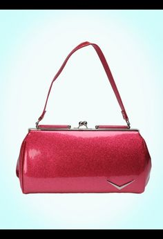 I need another Lux De Ville purse!!!!!!!Getaway Kiss Lock in Pink Sparkle from Lux de Ville