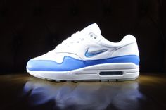 Nike Sportswear Air Max 1 Premium SC Jewel 'WHITE / UNIVERSITY BLUE' 918354-102