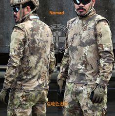 Nomad1/4 Zip  Ripstop long sleeve Combat shirt Mandrain Collar  Kryptek Camo Tactical Shirt  Typhon police Combat shirt #Affiliate