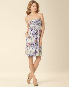 Soma Intimates Violet Dress Painted Garden #somaintimates