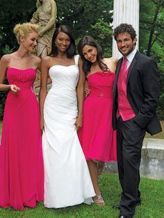 Glamorous floor-length A-line dress for bridesmaid