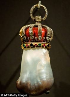 The Hope pearl, previously owned by King Louis XIV of France