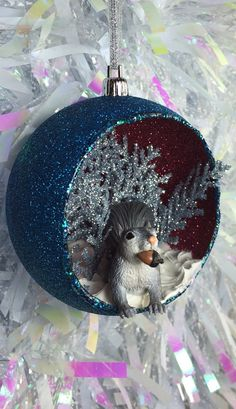 Squirrel in the Snow Diorama Decoration by AmazingAmazeballz