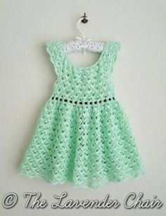 Beautiful Gemstone Lace Toddler Dress pattern (free) by The Lavender Chair