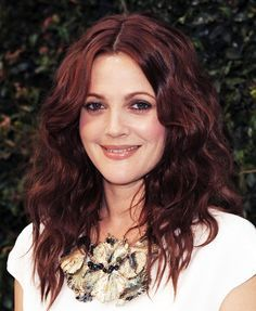 Happy birthday Drew Barrymore! We love this deep Medium Brown Violet shade on her! Get your own perfect #color to cover #gray #hair at home here: www.eSalon.com