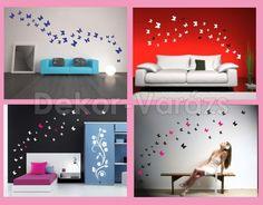 Akciós pillangós szett falra, hűtőre, bútorra, ajtóra, csempére, tapétára, üvegre, tükörre... http://www.dekor-varazs.hu/index.php?com=product_foto&sect=27&cat=305&id=5767