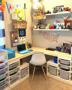 10 Brilliant Ways Parents Use IKEA's Trofast Storage System Ikea Playroom, Ikea Kids, Ikea Trofast Storage, Lego Room, Kids Bedroom, Boy Bedrooms, Boy Room, Kid Spaces, Nurseries
