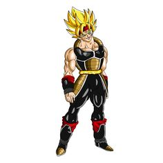 Controled Evil SSJ Bardock DBO Render by Evil-Black-Sparx-77