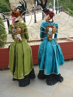 Steampunk Fairies. I love the colors