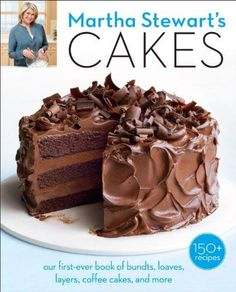 Offers over 150 cake recipes that range from simple to sophisticated, including such options as clementine vanilla bean loaf cake, almond berry coffee cake, flourless chocolate espresso cake, and variations on angel food cakes. Cupcakes, Cupcake Cakes, American Chocolate, Martha Stewart Recipes, Icebox Cake, Food Cakes, Baking Cakes, Cakes And More, Goodies