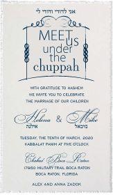 Under Chuppah – Wedding Invitation