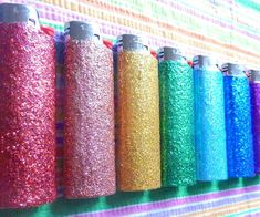 Never lose sight of another lighter again when you spark up using these glitter lighters. These trusty Bic lighters offer unmatched reliability and come decorated with a vibrant glitter coating that comes in all the colors of the rainbow.