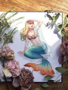 art of celtis Mermaid Artwork, Mermaid Drawings, Magical Creatures, Fantasy Creatures, Mermaid Stories, Character Art, Character Design, Mermaid Tale, Manga Mermaid