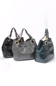 Steven by Steve Madden 'Candy Coated' Croc Embossed Tote