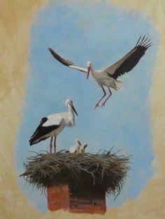 Deck Pictures, Nursery Paintings, Stork, Flowers Nature, Bird Art, Artist Painting, Beautiful Birds, Ukraine, Cool Art