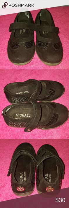 Black Michael Kors Ballet Flats Shoes Michael Kors black ballet flats with straps Michael Kors Shoes Dress Shoes