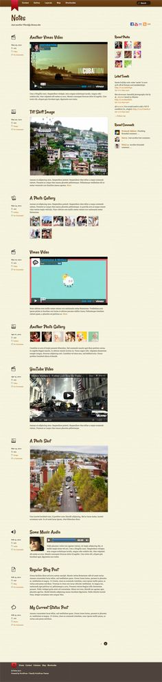 Notes WordPress Theme by Themify, is a stylish blog WP themeinspired by  the iPhone Notes app. Notes Theme is good choice for all type of bloggers and authors who are passionate to write and share contents in beautiful way. Your visitors will love beautiful typography especially post title that looks great with beautiful font style. The theme will allow you to use custom textured or plain background style, so your writing will look more clear and readable.