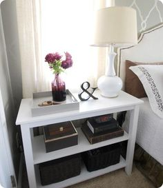 great looking, inexpensive nightstand solution