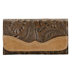 American West Earth Graciebird Tri-Fold Wallet