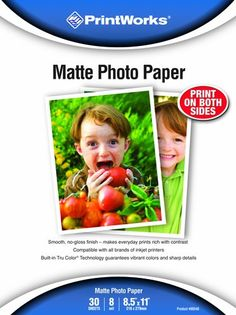 Printworks Matte Photo Paper, Double-Sided, 8 Mil, Inkjet... https://www.amazon.com/dp/B003FMVCVQ/ref=cm_sw_r_pi_dp_l-2Lxb6KBDKK1