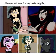 """Tagged with goth, gothic, gothmemes; I remember growing up watching theses shows like """"damn I wanna be like her"""" Archie Comics, Lgbt Memes, Funny Memes, Hilarious, Gambit Wallpaper, Hex Girls, Kim Possible, Fandoms, Cute Gay"""