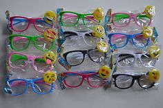 12 PCS LED Emoji Glasses Light Up Shades Flashing Rave Wear Party Favors Costume in Home & Garden, Greeting Cards & Party Supply, Party Supplies   eBay