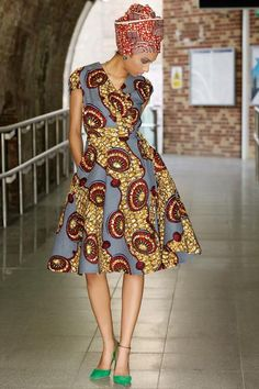 Shop Kuwala.co for the Queen Ankara Wrap Dress by Gitas Portal