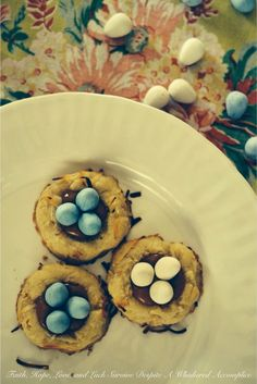 Birds Nest Cookies | Faith, Hope, Love, and Luck Survive Despite a Whiskered Accomplice