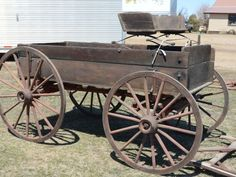 Farm Wagons, Freight Wagons and Buckboard Wagons for Sale Horse Wagon, Horse Drawn Wagon, Wheelbarrow Wheels, Wagon Trails, Old West Town, Wagons For Sale, Wooden Wagon, Backyard Fireplace, Old Wagons