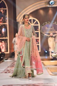 Stunning bridal wear is available on order. Pakistani Formal Dresses, Pakistani Outfits, Indian Dresses, Indian Outfits, Pakistani Couture, Pakistani Bridal Wear, Churidar, Patiala, Salwar Kameez