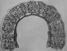 Headpiece from 16th century is shown in Germanic National Museum, Nurmberg