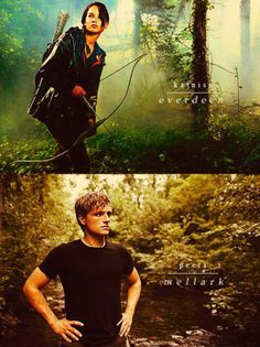 Katniss and Peeta. I really didn't think I was gonna like these books but I loved them
