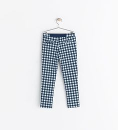Image 2 of CHECKERED TROUSERS from Zara