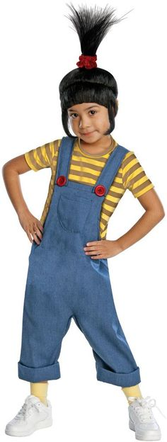 Despicable Me - Deluxe Agnes Toddler / Child CostumeThis costume includes jumpsuit and wig. Does not include socks, and shoes. This is an officially licensed Despicable Me 2 costume.Size: ToddlerGende
