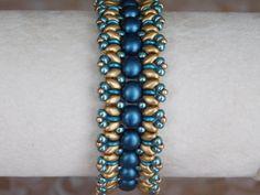 Bead Bracelet Tutorial, Beading Pattern, Superduo, 2-hole Cabochon, Beadweaving, Czech O-beads, PDF, Instant Download, Instructions, DYI