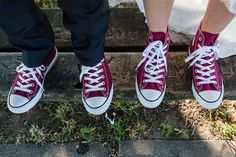 Partnerlook! Es müssen nicht immer Lederschuhe oder Brautschuhe sein 😉 Chuck Taylor Sneakers, Chuck Taylors, Our Wedding, Weddings, Shoes, Fashion, Leather Booties, Moda, Bodas