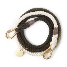 Found My Animal Adjustable Rope Leash Olive Ombre