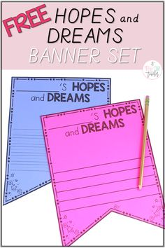 Free Hopes and Dreams Banner Set - A Teeny Tiny Teacher