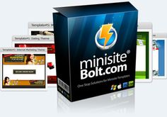 You Can Start Creating Your Very Own Minisite In Just A Few  Minutes without Having To Hire An Expensive Web Designer!