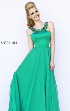 Beaded Halter Neck Gown by Sherri Hill 32151