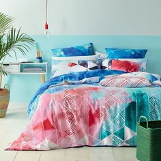 A Merimbula vacation could be as easy as jumping into bed  Pick up the Merimbula quilt cover set at 25% off during our Summer Sale