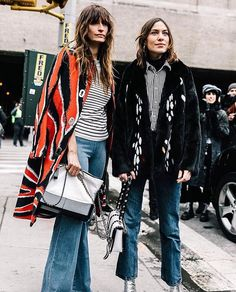 WEBSTA @ frame - Outside the shows at #nyfw -@carolinedemaigret wearing Le Capri @voguespain
