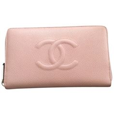 Pre-owned Chanel Caviar Wallet Brand New Pink Clutch ($1,175) ❤ liked on Polyvore featuring bags, handbags, clutches, pink, chanel purses, chanel handbags, pink clutches, genuine leather purse and pink leather handbag