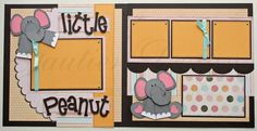 12x12 premade scrapbook pages Little Peanut - baby girl via Etsy.