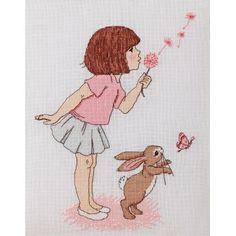 'Dandelion' Cross Stitch Pattern - Belle & Boo